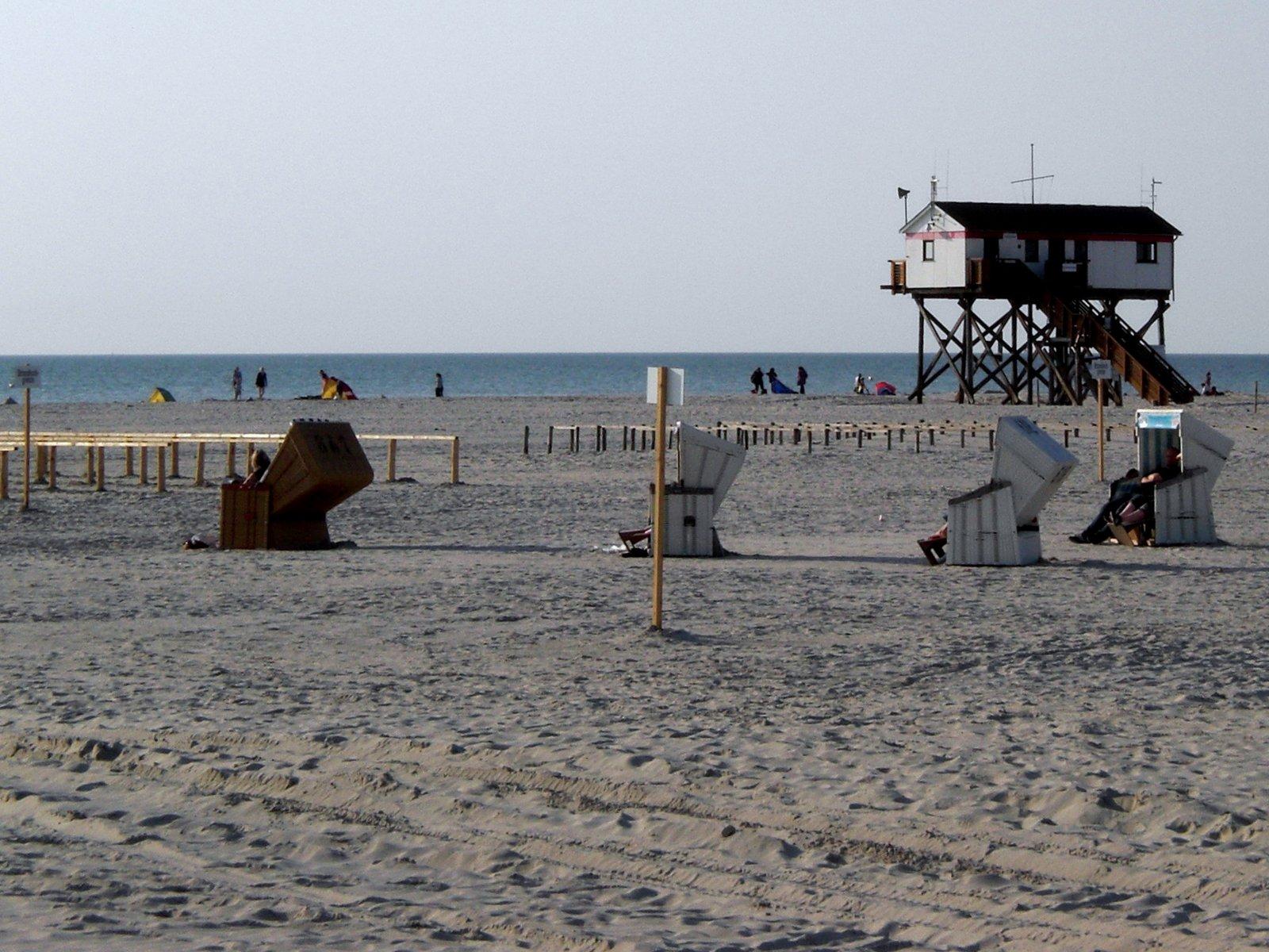 St. Peter-Ording Ferienwohnung: Strand, Pfahlbau und Nordsee